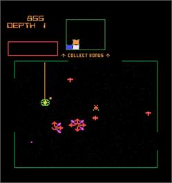 In game image of Space Dungeon on the Arcade.