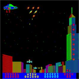 In game image of Space Echo on the Arcade.