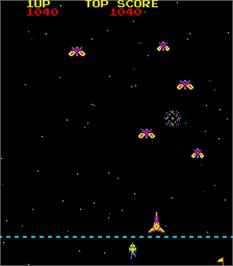 In game image of Space Empire on the Arcade.