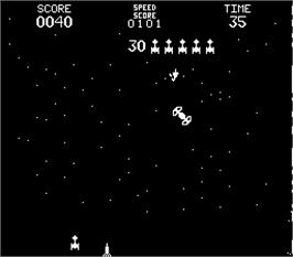 In game image of Space Encounters on the Arcade.
