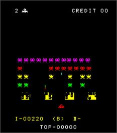 In game image of Space Fever on the Arcade.
