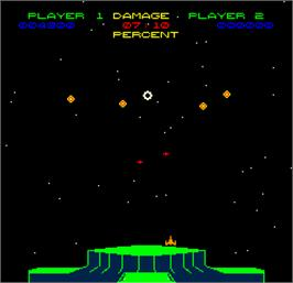 In game image of Space Fortress on the Arcade.