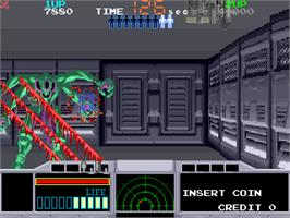 In game image of Space Gun on the Arcade.