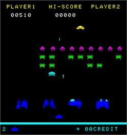 In game image of Space Intruder on the Arcade.
