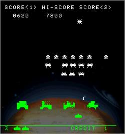 In game image of Space Invaders Anniversary on the Arcade.