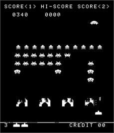 In game image of Space Invaders Part Four on the Arcade.