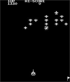 In game image of Space Missile - Space Fighting Game on the Arcade.