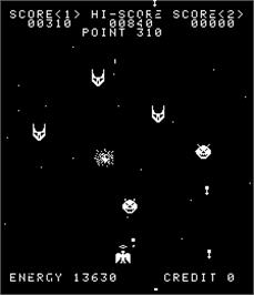 In game image of Space Phantoms on the Arcade.