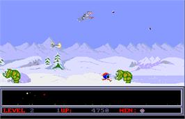 In game image of Space Ranger on the Arcade.