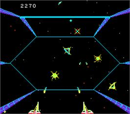 In game image of Space Seeker on the Arcade.