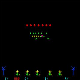 In game image of Space Tactics on the Arcade.