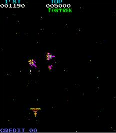 In game image of Space Thunderbird on the Arcade.