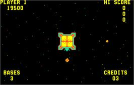 In game image of Space Zap on the Arcade.