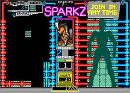 In game image of Sparkz on the Arcade.