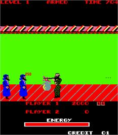 In game image of Special Forces II on the Arcade.