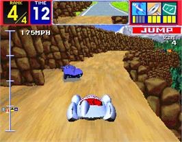In game image of Speed Racer on the Arcade.