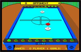 In game image of SportTime Table Hockey on the Arcade.