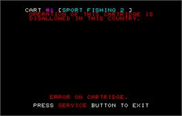 In game image of Sport Fishing 2 on the Arcade.