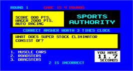 In game image of Sports Authority on the Arcade.