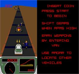 In game image of Spy Hunter 2 on the Arcade.