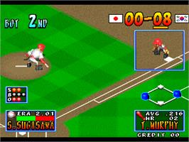 In game image of Stadium Hero 96 on the Arcade.