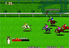 In game image of Stakes Winner 2 on the Arcade.