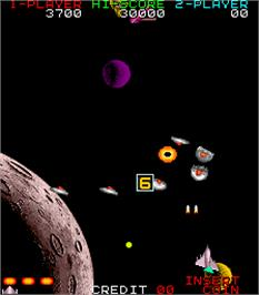 In game image of Star Fighter on the Arcade.