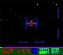 In game image of Star Fire on the Arcade.