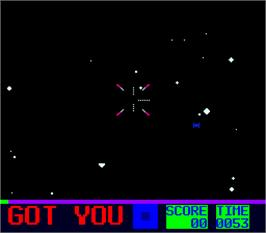 In game image of Star Fire 2 on the Arcade.