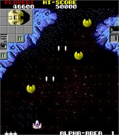 In game image of Star Force on the Arcade.