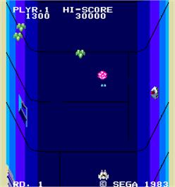 In game image of Star Jacker on the Arcade.