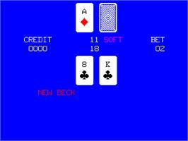 In game image of Status Black Jack on the Arcade.