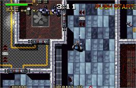 In game image of Steel Force on the Arcade.