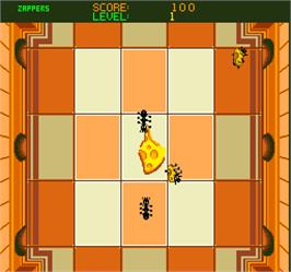 In game image of Stompin' on the Arcade.