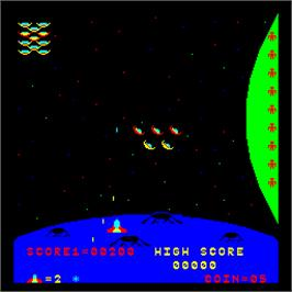 In game image of Stratovox on the Arcade.