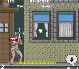 In game image of Street Fight on the Arcade.
