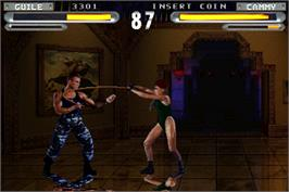 In game image of Street Fighter: The Movie on the Arcade.