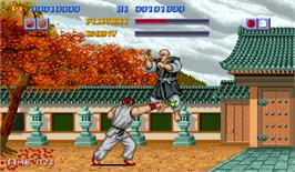 In game image of Street Fighter on the Arcade.