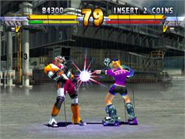 In game image of Street Fighter EX 2 Plus on the Arcade.