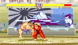 In game image of Street Fighter II': Champion Edition on the Arcade.