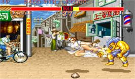 In game image of Street Fighter II' Turbo: Hyper Fighting on the Arcade.