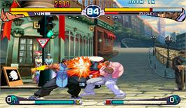 In game image of Street Fighter III 2nd Impact: Giant Attack on the Arcade.