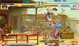 In game image of Street Fighter III 3rd Strike: Fight for the Future on the Arcade.