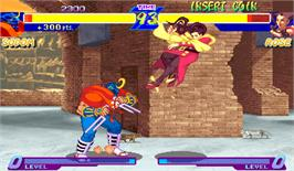 In game image of Street Fighter Zero on the Arcade.