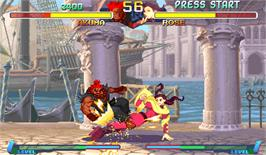 In game image of Street Fighter Zero 2 on the Arcade.