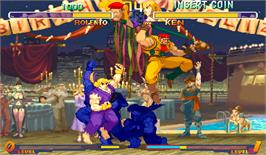 In game image of Street Fighter Zero 2 Alpha on the Arcade.