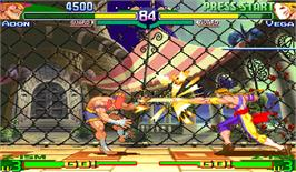 In game image of Street Fighter Zero 3 on the Arcade.