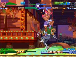 In game image of Street Fighter Zero 3 Upper on the Arcade.