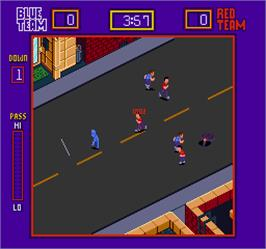 In game image of Street Football on the Arcade.