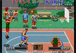 In game image of Street Hoop / Street Slam / Dunk Dream on the Arcade.